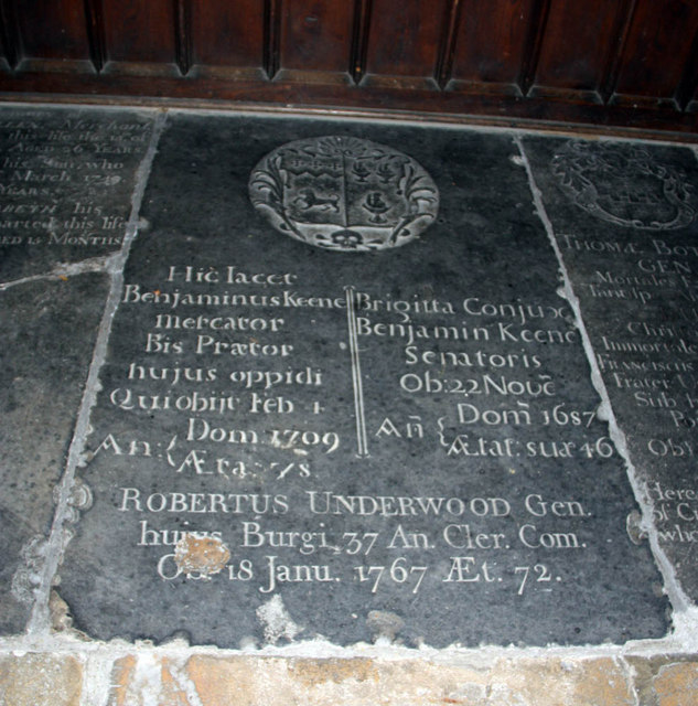 St Nicholas, King's Lynn, Norfolk - Ledger slab