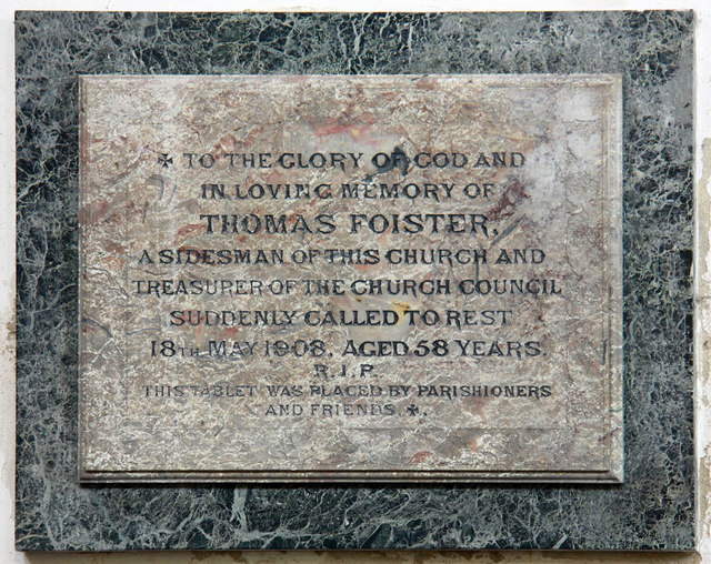 All Saints, King's Lynn, Norfolk - Wall monument