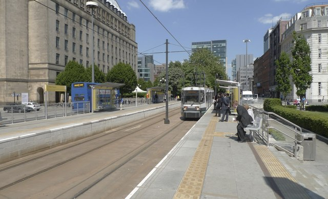 Improved metro station at St Peter's Square, Manchester