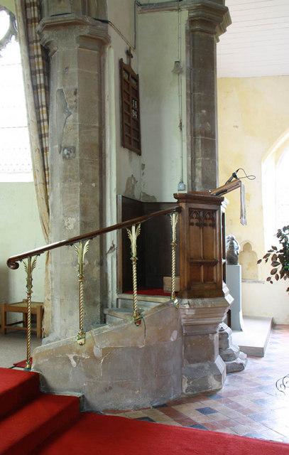 St Nicholas, Gayton, Norfolk - Pulpit