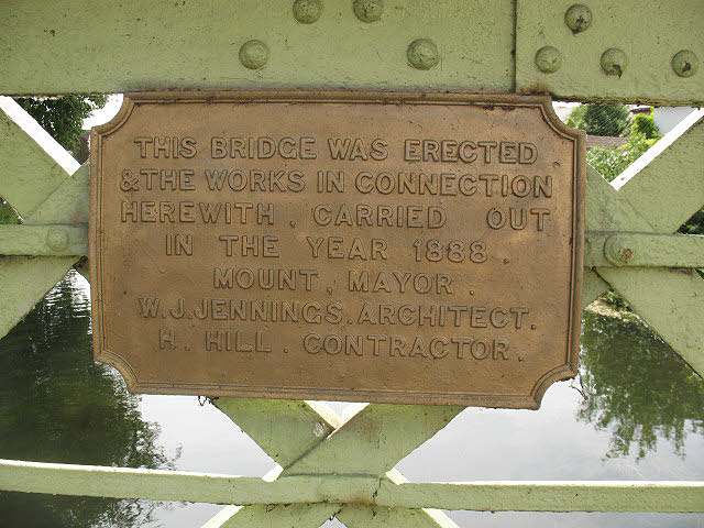 Plaque on the Causeway Bridge