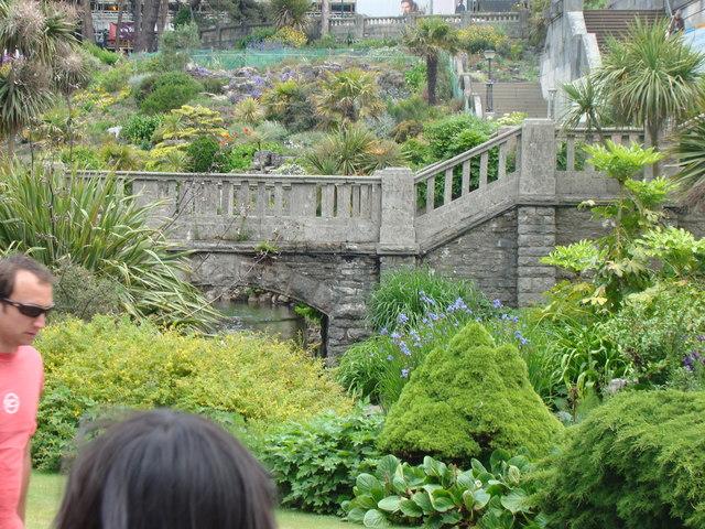 Bridge over the stream in Lower Gardens