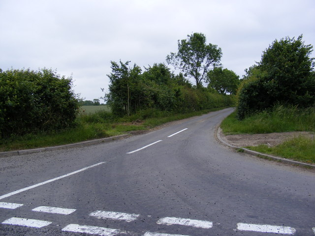 Road to the A144 Bramfield Road