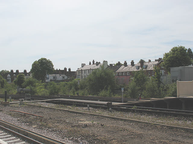 Disused sidings at Canterbury West