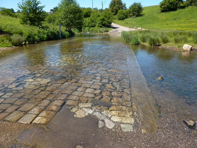 The ford at Bradbourne Mill
