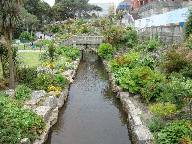 Stream in Lower Gardens, looking north-northwest