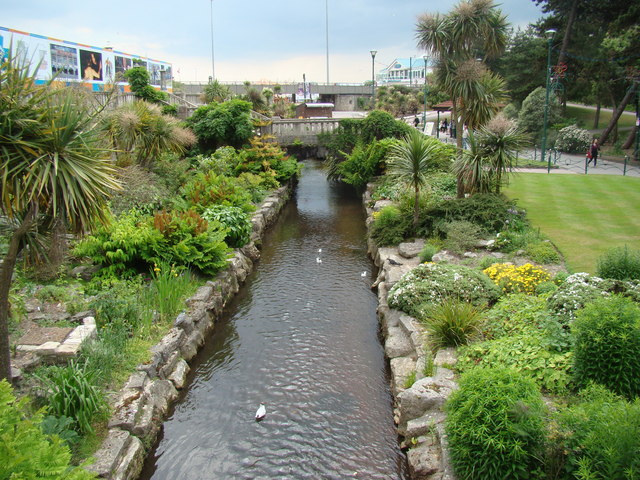 Stream in Lower Gardens, looking south-southeast #2