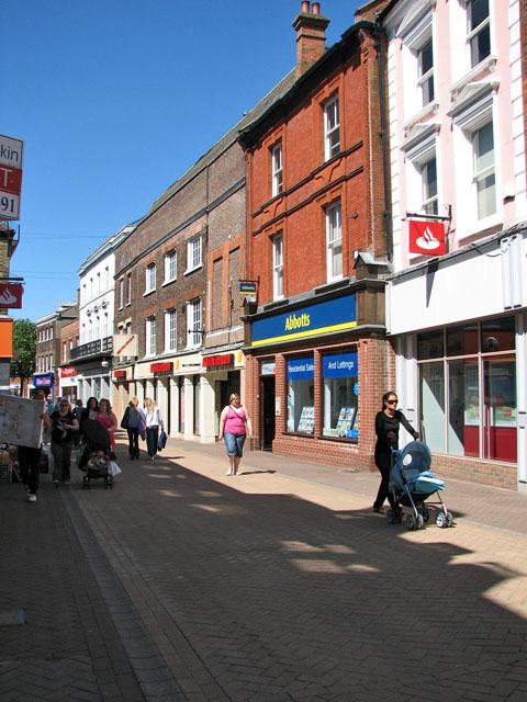 Shops in High Street, Kings Lynn