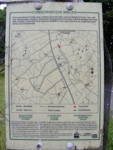 Conservation Walks Map