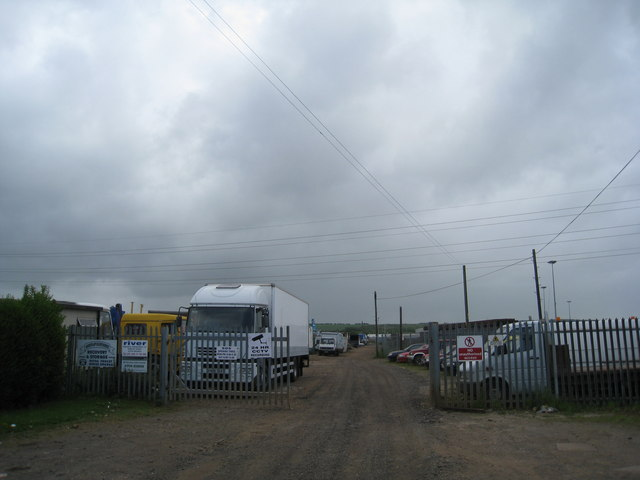 Entrance to Scrapyard, Wybeck Road, Scunthorpe