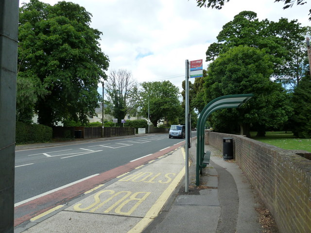 Emsworth House bus stop in Havant Road