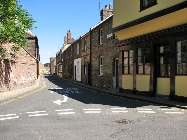 Priory Lane in the Historic Quarter of Kings Lynn