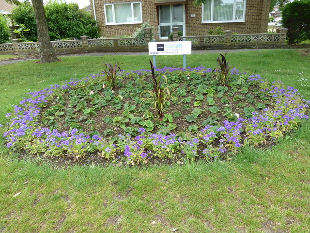 Flower bed at the junction of Western Road and Havant Road