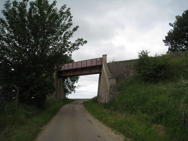Railway bridge on Flixborough Wharf branch