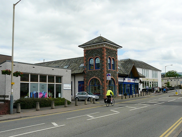 Library and shops, Keswick