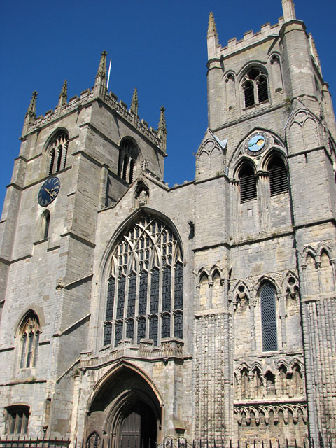 The west towers of St Margaret's church, Kings Lynn
