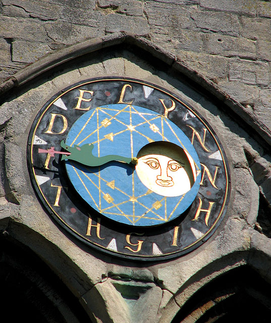 St Margaret's church in Kings Lynn - the Lynn High Tide clock