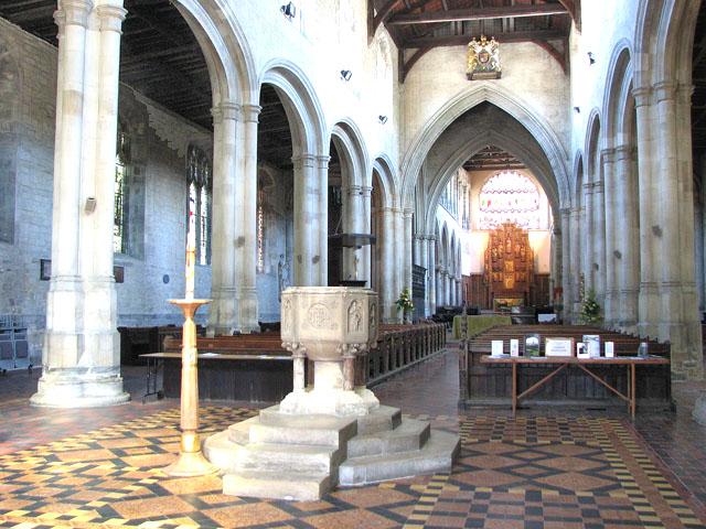 St Margaret's church in Kings Lynn - view east
