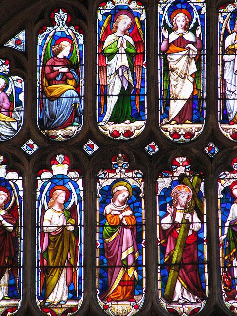 St Margaret's church in Kings Lynn - east window (detail)