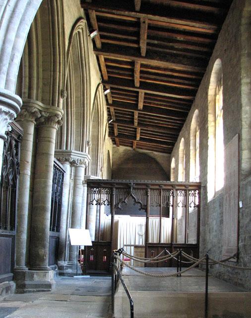 St Margaret's church in Kings Lynn - south aisle
