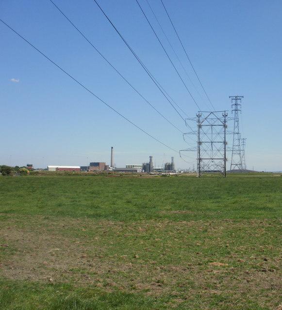 Power lines crossing  New Dairy Farm field