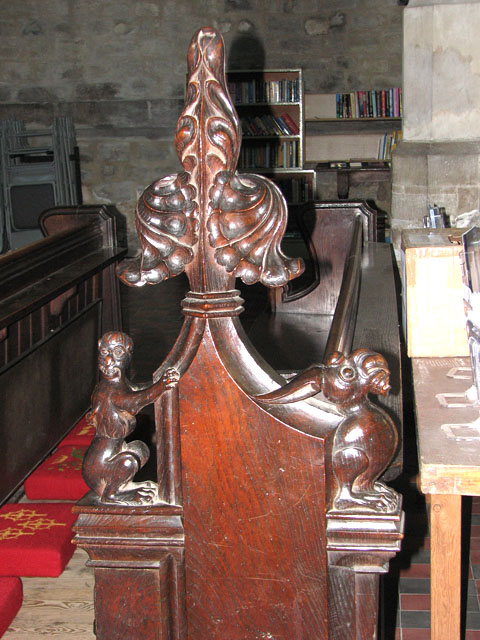 St Margaret's church in Kings Lynn - carved bench ends