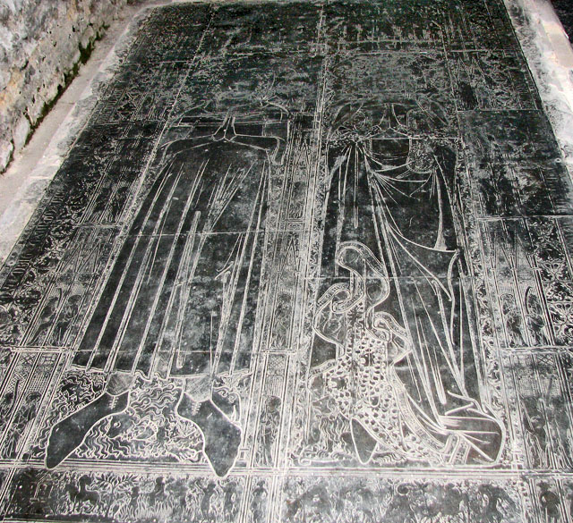 St Margaret's church in Kings Lynn - Adam de Walsoken's brass