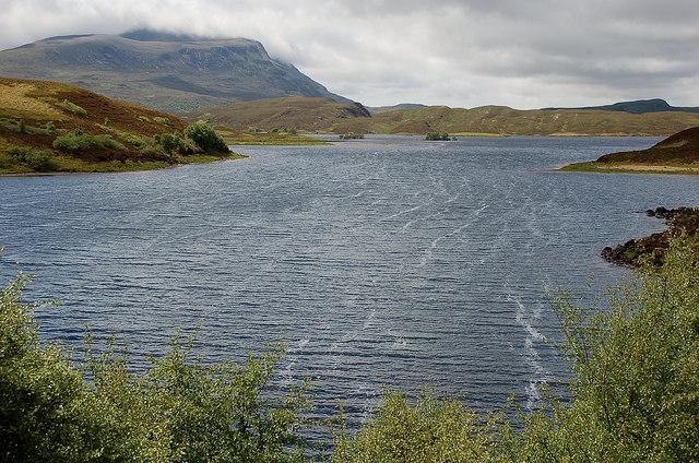 Cam Loch on a breezy summer day
