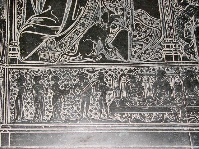 St Margaret's church in Kings Lynn - Robert Braunche's brass (detail)
