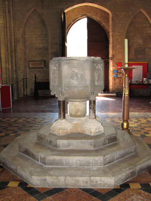 St Margaret's church in Kings Lynn - baptismal font