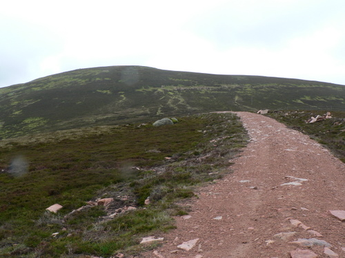 Road to Battock summit