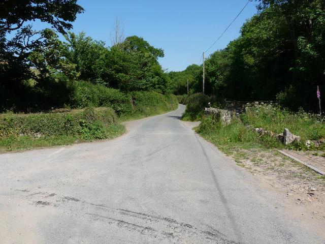 Nethercott Road leading away from Nethercott