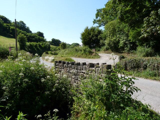 A bridge over a stream near the entrance to Gould's Farm
