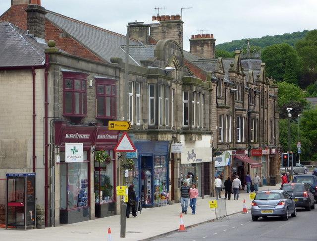Parade of shops, Bank Street, Matlock