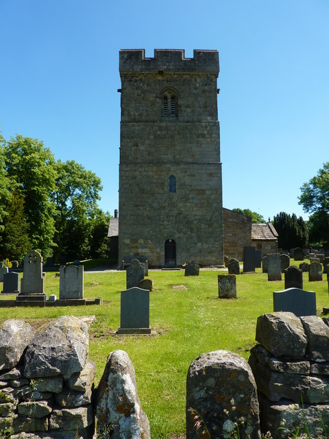 Tower and churchyard