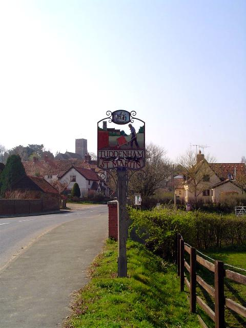 Village sign at Tuddenham St Martin