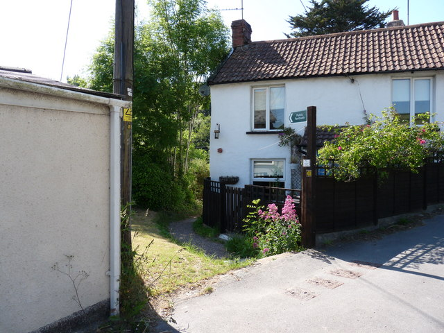 A Footpath in Knowle which leads to Nethercott Road or Castle Lane