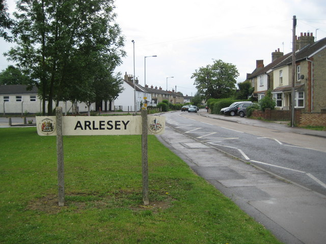 Arlesey: 1951 Festival of Britain town sign