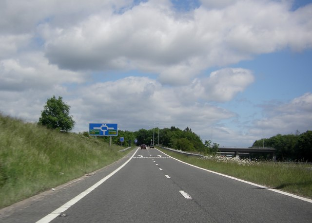 Slip road from M 55 to A 585