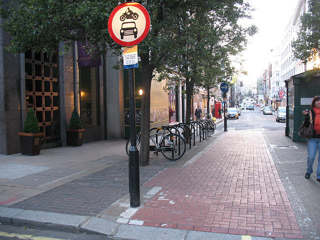 Cycle path, New Bond Street