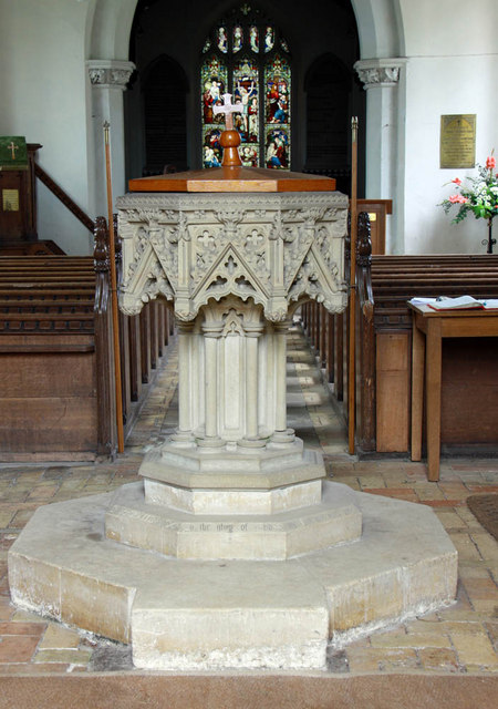 All Saints, Ashwicken, Norfolk - Font
