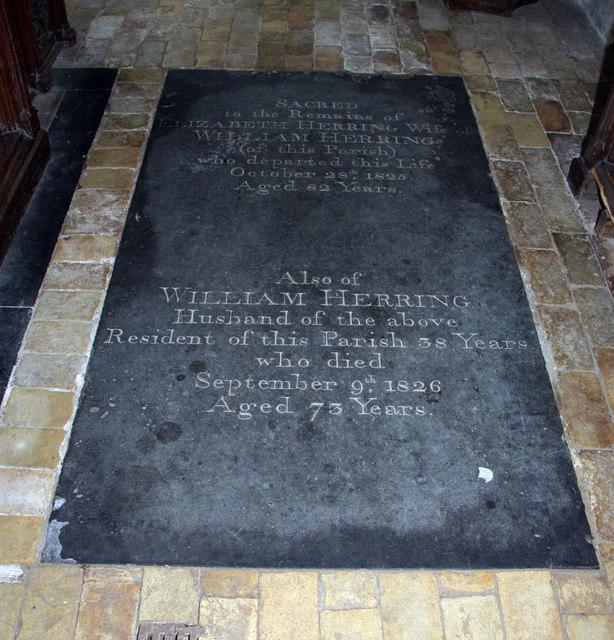 All Saints, Ashwicken, Norfolk - Ledger slab
