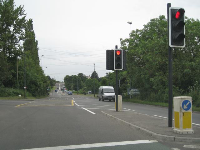 Traffic lights, A38 Tytherington turn