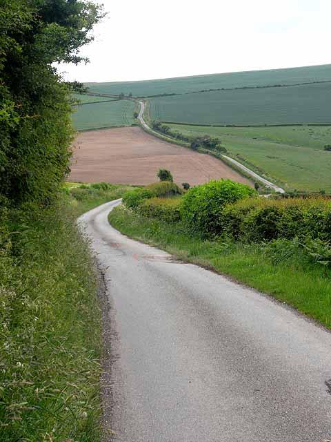 Road below Weston Hill