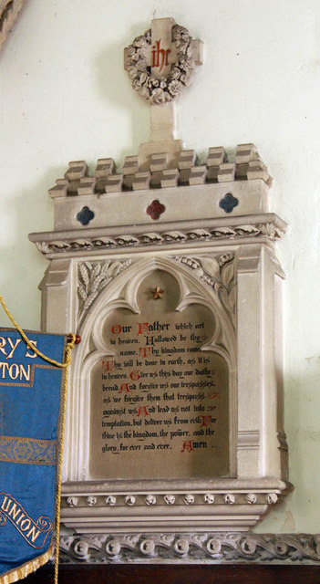 St Mary, Middleton, Norfolk - Wall monument