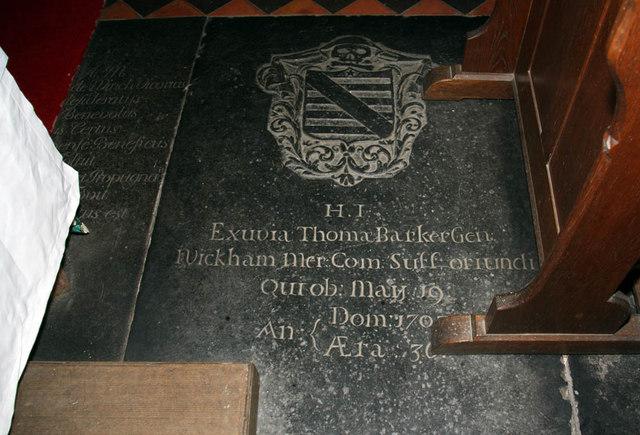 St Mary, Middleton, Norfolk - Ledger slab