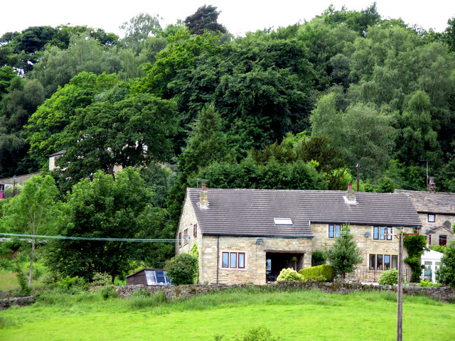 Foulridge, Lancashire:  House opposite the canal