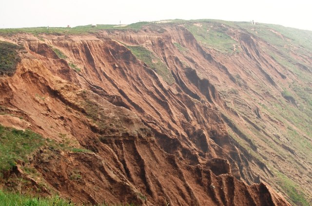 Badlands topography, Filey Brigg