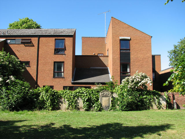 New housing adjoining St Nicholas' chapel