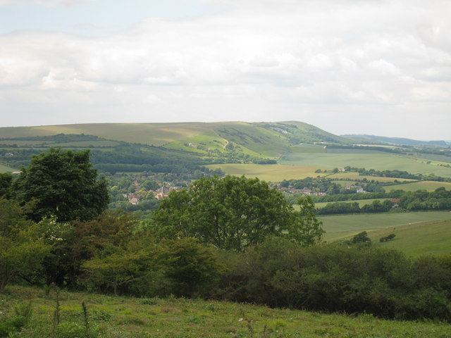 View of the South Downs and Alfriston